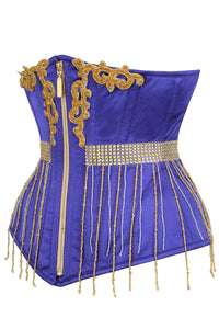Purple & Gold Zipped Underbust