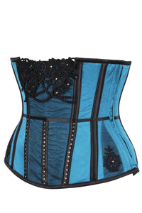 Teal Closed Front Lingerie Corset