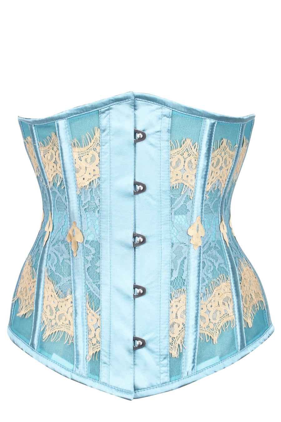 Duck Egg Blue Lace & Mesh Underbust