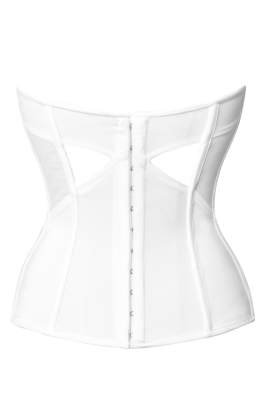 Low Back Boned Bridal Corset with Cups