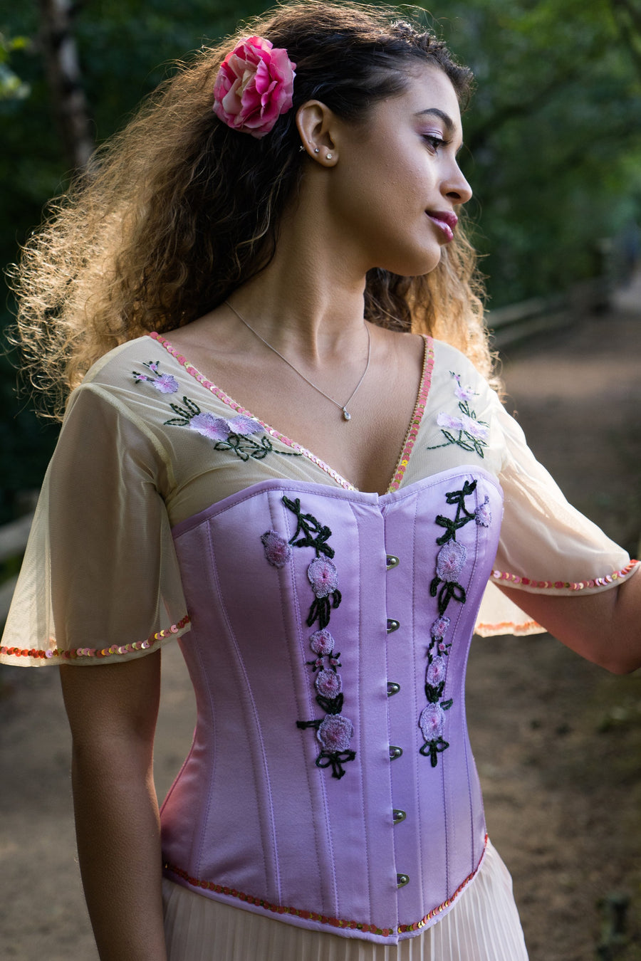Embroidered Corset Blouse