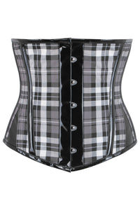 Black And Grey Check Waspie With PVC Binding