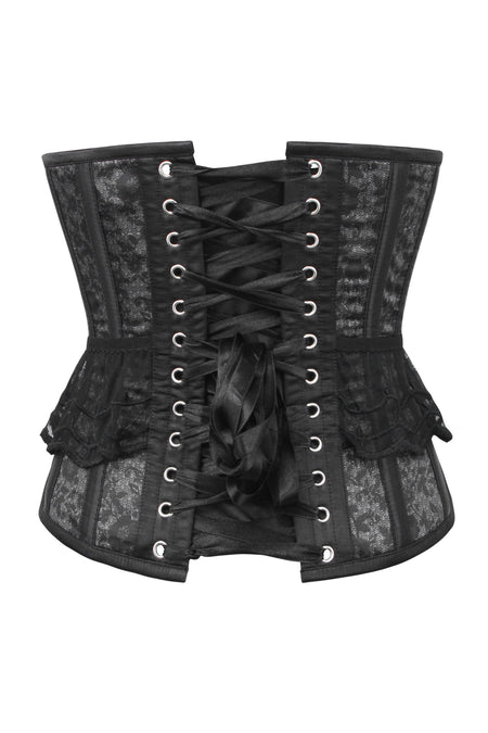 Smoky Charcoal Lace Underbust Corset