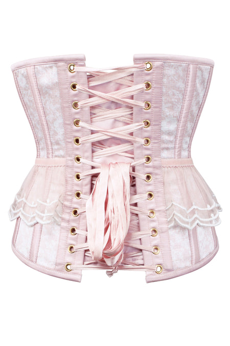 Antique Rose Mesh Underbust Corset
