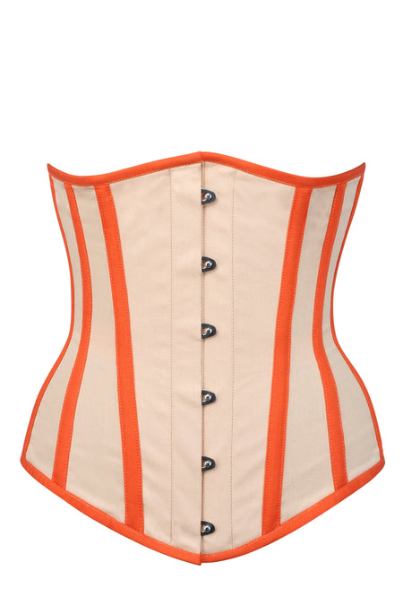 Cream and Orange Single Layer Underbust