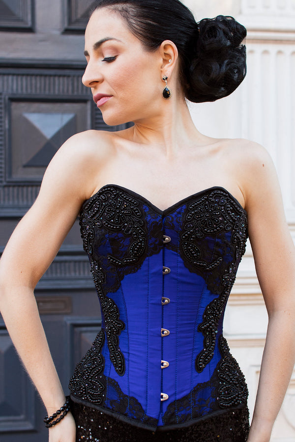 Lace and bead Embellished Corset Overbust