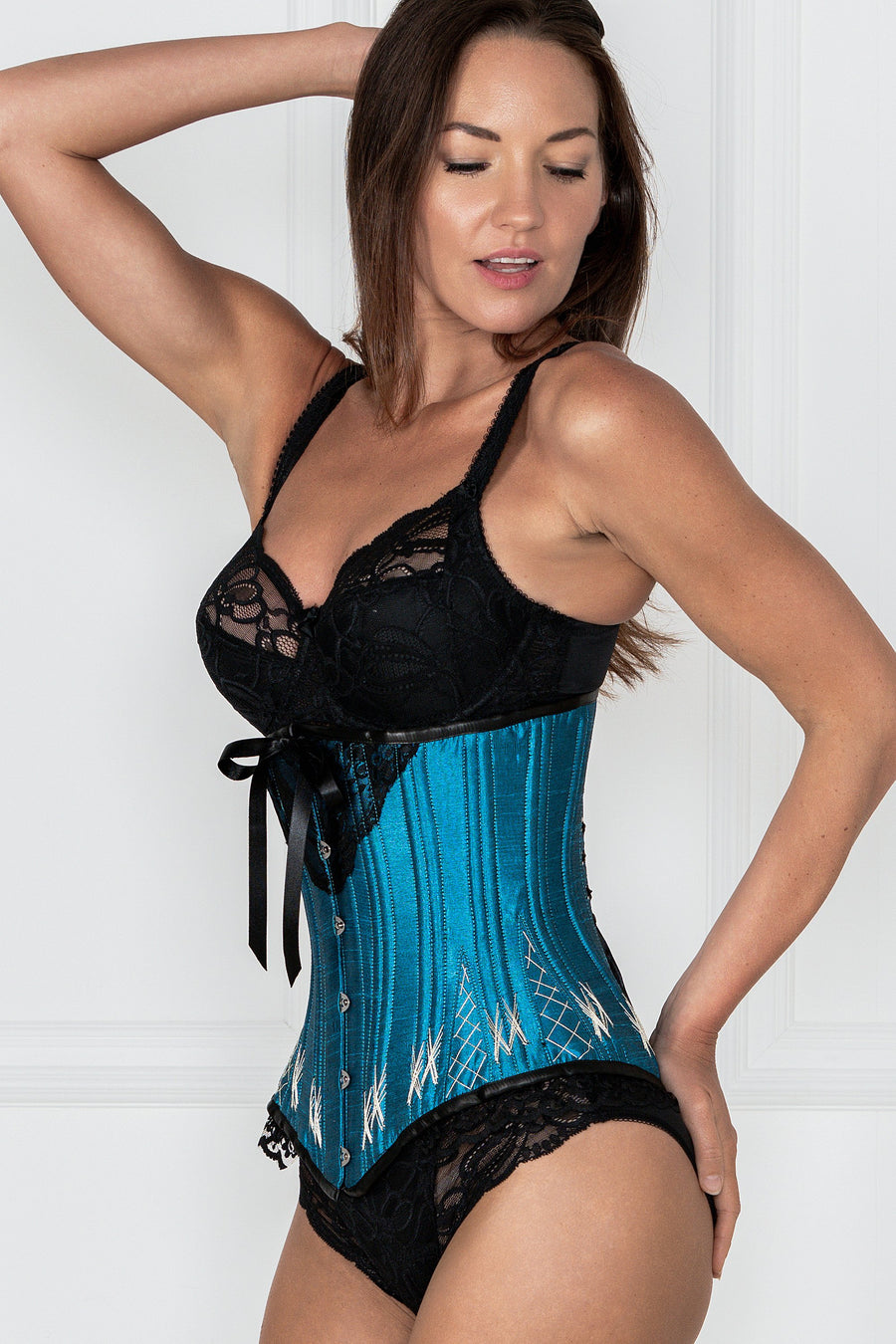 Longline Turquoise Underbust With Flossing