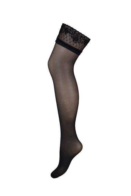 Sensation Lace Top 15 Denier Stocking - Black