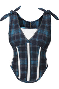 Tartan Autumn Corset Bodice with Zip