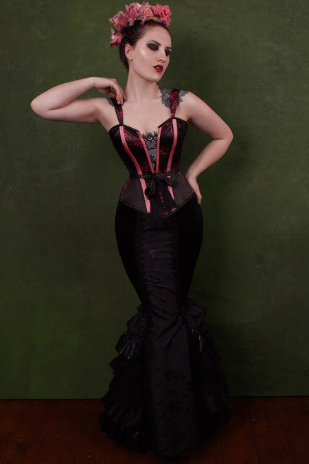 Corset Lingerie Top with Sash