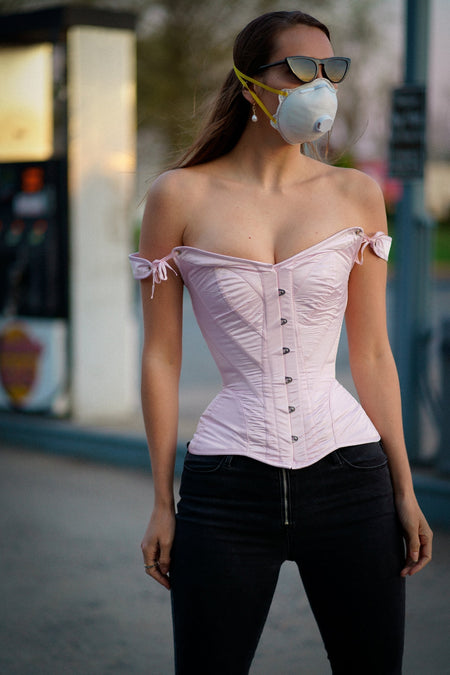 Pale Pink Sleeved Corset