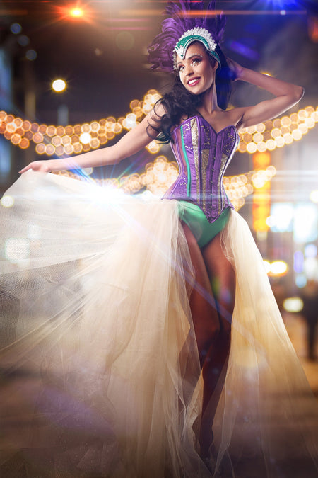 Purple & Gold Carnival Corset