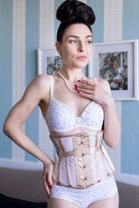 Fan Lacing Body Tone Mesh Underbust Corset