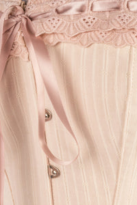 Nude Summer Victorian Vintage Straight Lined Overbust