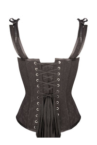 Vintage Inspired Overbust With Angled Panels And Shoulder Straps