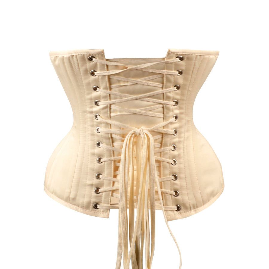 Cream Expert Waist Training Underbust Longline With Hip Gores