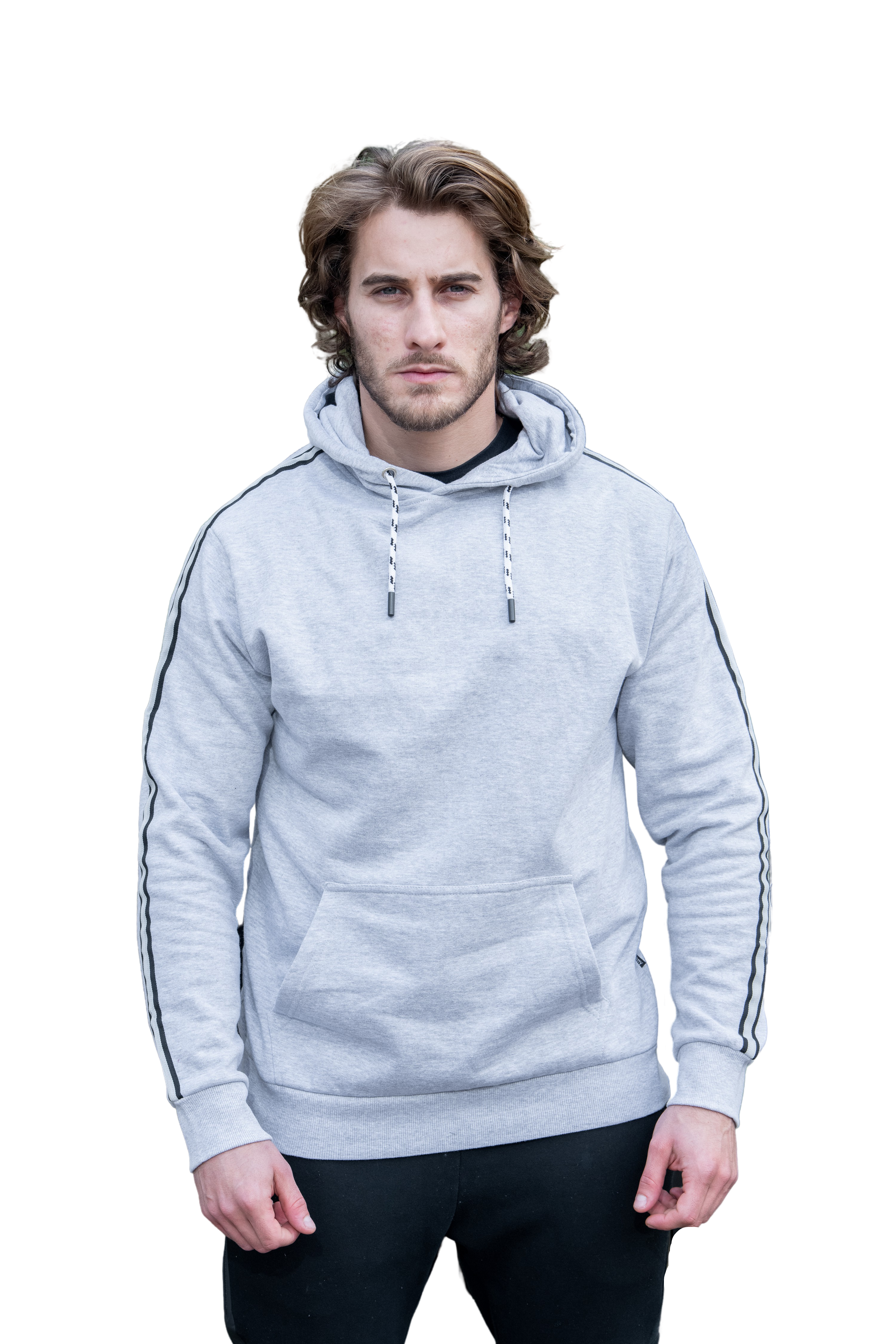 Relaxed fit Signature Grey Hoddie