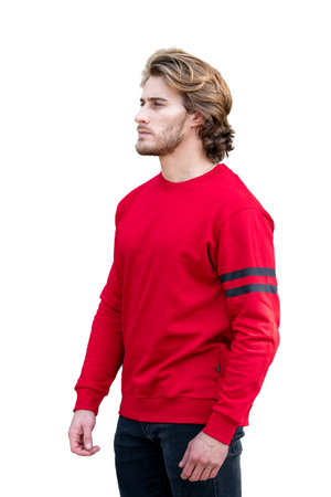 Relaxed fit Cherry Red Fleece Sweatshirt