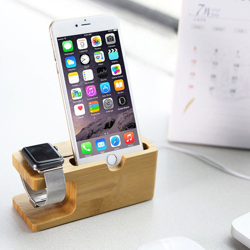 2 in 1 Charger Station for Apple Watch and Stand Holder for iPhone