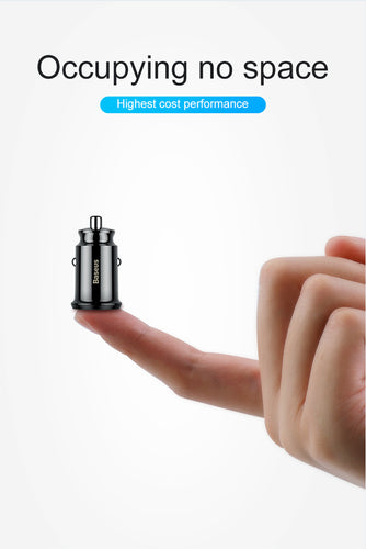 Baseus Mini USB Car Charger Adapter