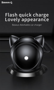 Baseus Cat Shape USB Car Charger Adapter