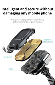 Baseus 2 in 1 Car Phone Holder & Wireless Charger (Automatic Locking)