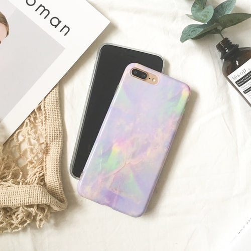 Pink Marble Phone Case For iPhone