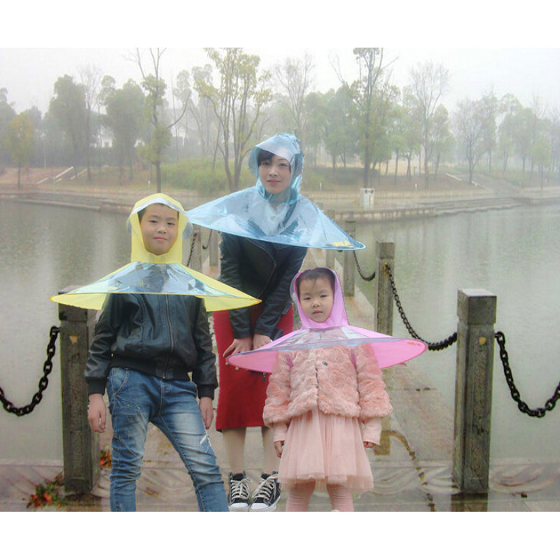Cheapest and Best Reviews for Creative Waterproof Umbrella Raincoat Small / Transparent at trendingvip.com