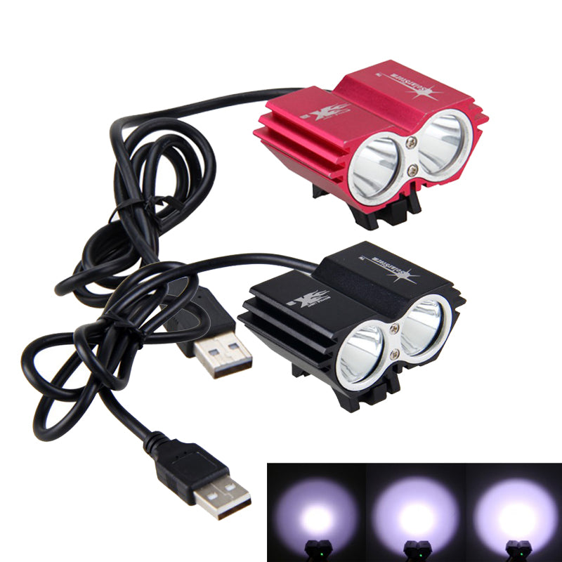 Cheapest and Best Reviews for Waterproof USB Bike Dual Light Black at trendingvip.com