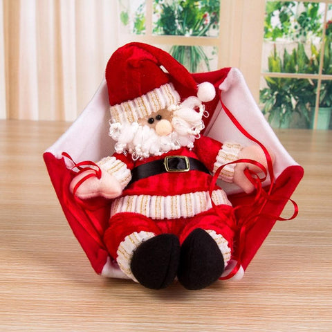 Cheapest And Best Reviews For Hanging Parachute Santa Doll Claus Style Red White