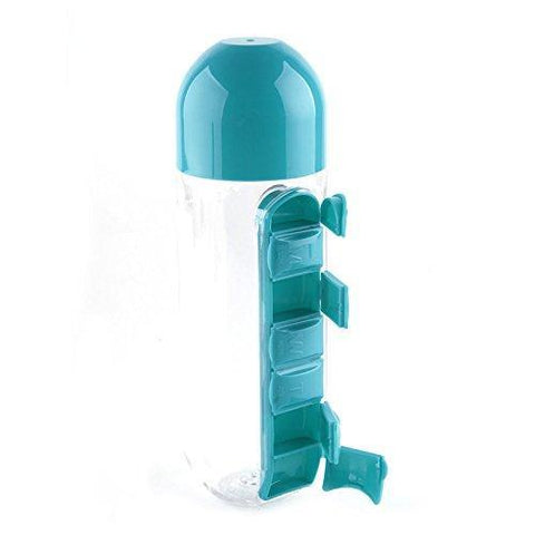 Cheapest and Best Reviews for 2 in 1 Pill Organizer Water Bottle Blue at trendingvip.com