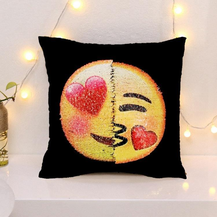 Cheapest and Best Reviews for Changing Face Emoji (Cushion Cover) Lust Kissing at trendingvip.com