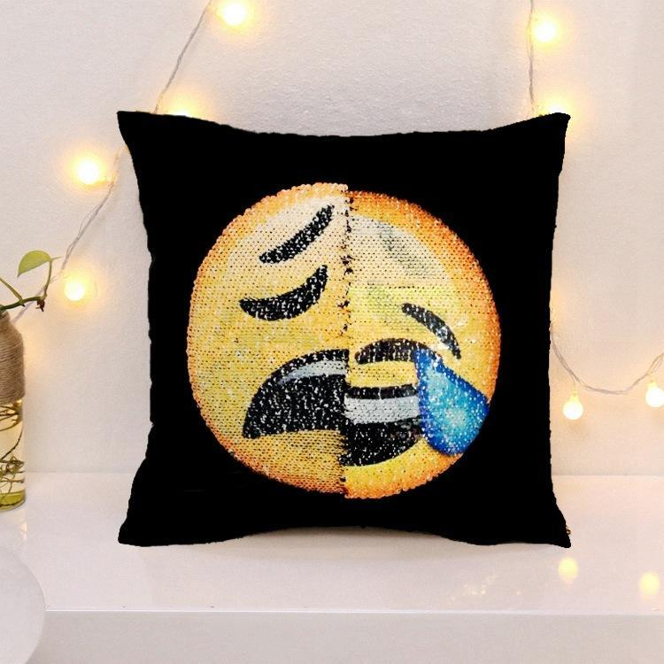 Cheapest and Best Reviews for Changing Face Emoji (Cushion Cover) Sad Brokenheart at trendingvip.com
