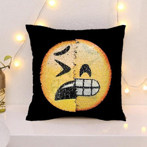 Cheapest and Best Reviews for Changing Face Emoji (Cushion Cover) Sad Happy at trendingvip.com