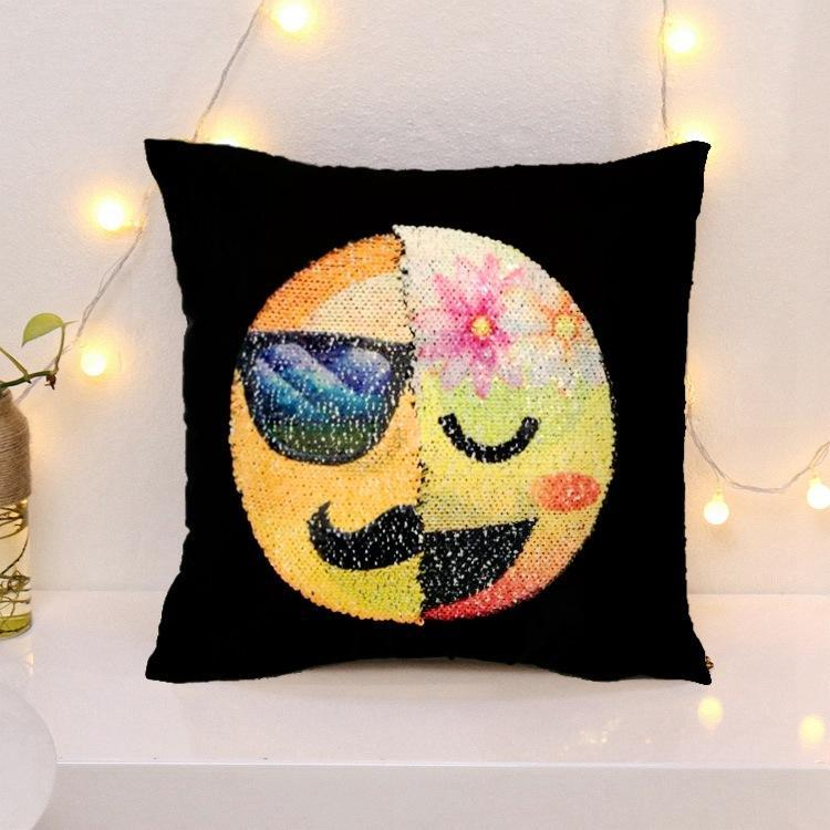 Cheapest and Best Reviews for Changing Face Emoji (Cushion Cover) Gentleman Goddess at trendingvip.com