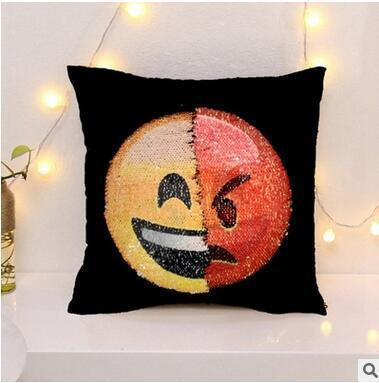 Cheapest and Best Reviews for Changing Face Emoji (Cushion Cover) Happy Angry at trendingvip.com