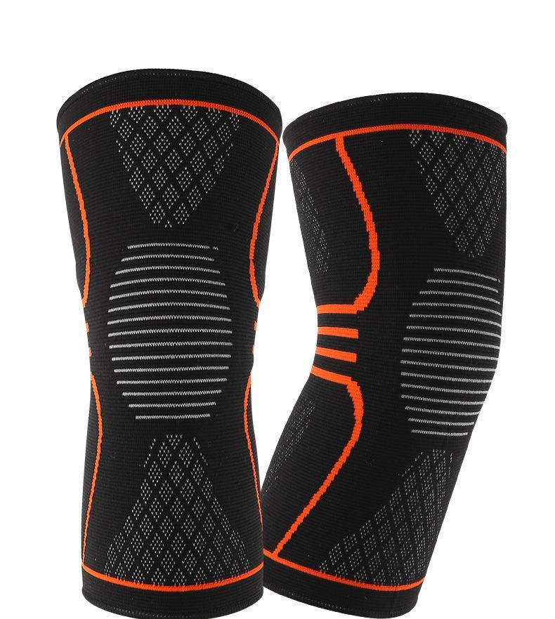 Cheapest and Best Reviews for Elastic Nylon Knee Pad Black Orange / M at trendingvip.com