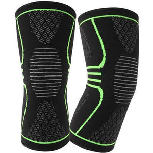 Cheapest and Best Reviews for Elastic Nylon Knee Pad Black Green / L at trendingvip.com
