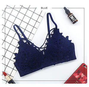 2018 Summer Floral Lace Triangle Bralette