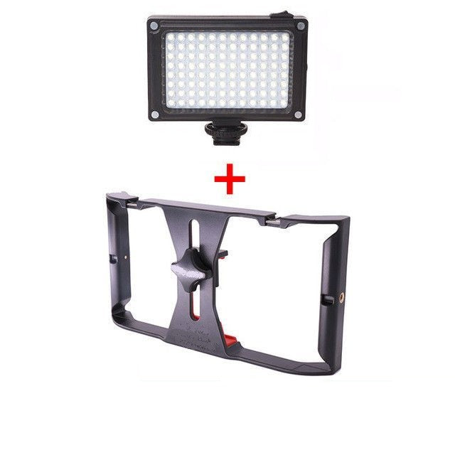 Cheapest and Best Reviews for Handheld Smartphone Rig Rig + LED Light at trendingvip.com