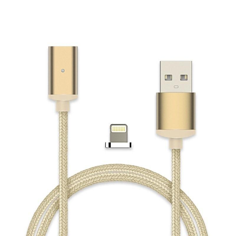 Cheapest and Best Reviews for 2.4A High Speed Charging Magnetic Cable For Android Or Apple Product Gold / For iPhone at trendingvip.com