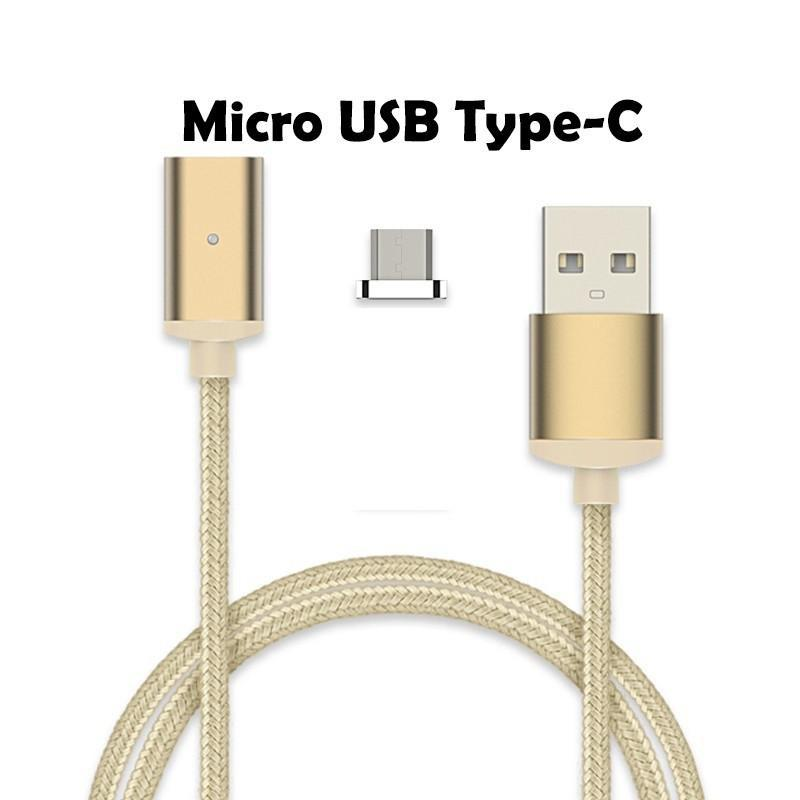 Cheapest and Best Reviews for 2.4A High Speed Charging Magnetic Cable For Android Or Apple Product Gold / For Micro USB Type-C at trendingvip.com