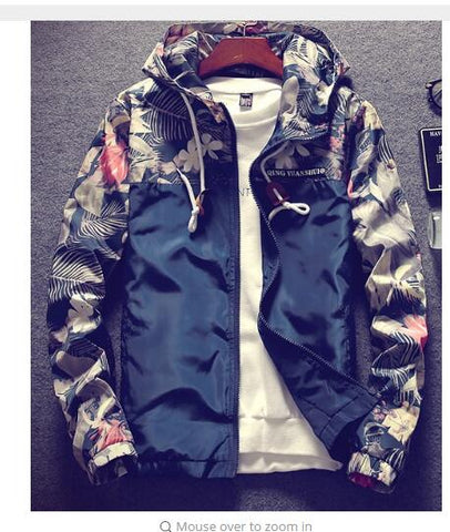 Cheapest and Best Reviews for Floral Autumn Bomber Jacket M / Navy at trendingvip.com