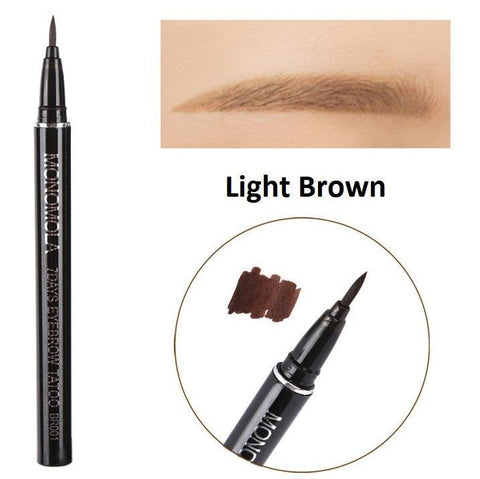 Cheapest and Best Reviews for 7 Days Waterproof Eyebrow Tattoo Pen Light Brown at trendingvip.com