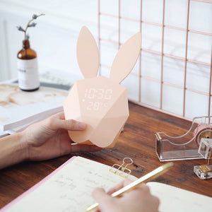 Cheapest and Best Reviews for Bunny Alarm Clock Rechargeable Night Light  at trendingvip.com