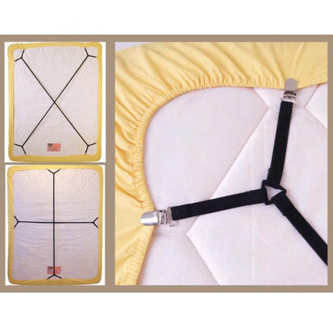 Cheapest and Best Reviews for Adjustable Elastic Sheet Suspender  at trendingvip.com