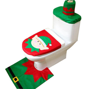 Cheapest and Best Reviews for Christmas Toilet Seat Carpet Bathroom  Decorations Elf at trendingvip.com
