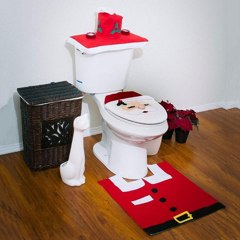 Cheapest And Best Reviews For Christmas Toilet Seat Carpet Bathroom Decorations At Trendingvip