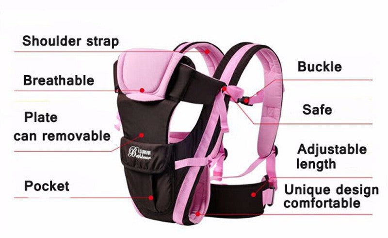 Cheapest and Best Reviews for Breathable 4 in 1 Baby Carrier Pink at trendingvip.com