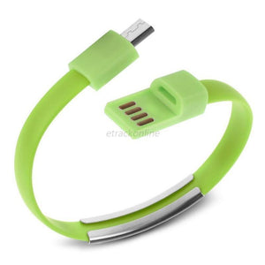 Cheapest and Best Reviews for Bracelet USB Charger Cable Samsung / Green at trendingvip.com